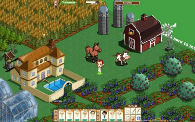 Uno screenshot di FarmVille
