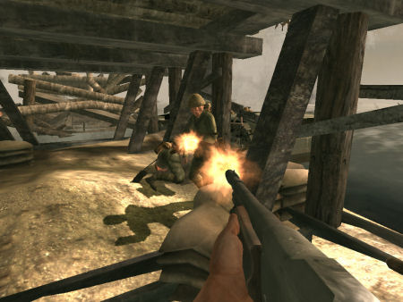 Uno screenshot da Medal of Honor: Pacific Assault