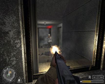 Uno screenshot di Call of Duty