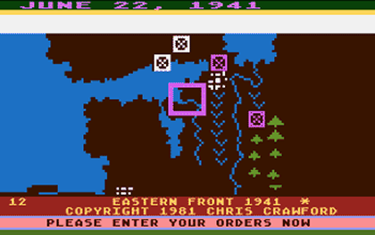 Uno screenshot di Eastern Front - 1941