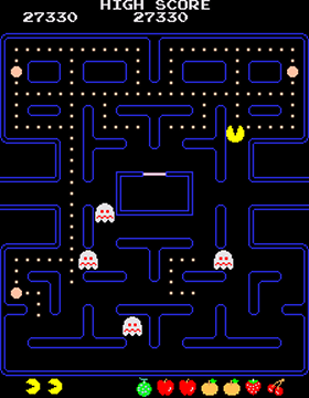Uno screenshot di Pac-Man